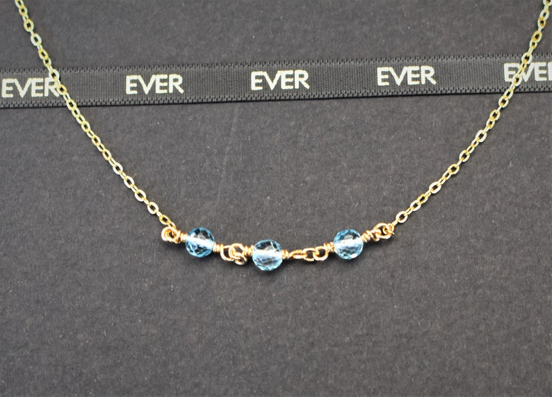 Delicate gemstone Necklace Topaz Bead Necklace