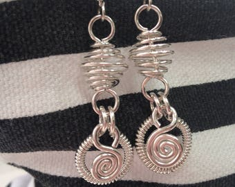 Shiny Sterling Silver Earrings
