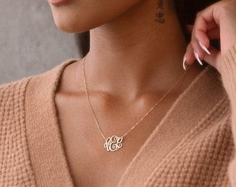 Monogram Necklace • Dainty Monogram Jewelry • Initial Necklace • Monogrammed Necklace • Personalized Jewelry • Personalized Monogram