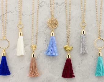 Tassel Necklace, Long Bohemian Necklace, Boho Necklace, Bridesmaid Jewelry, Mother's Day Gift