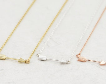 Tiny Arrow Necklace, Mini Arrow necklace,Gold Arrow necklace, Dainty Necklace, Layering Necklace, Everyday Necklace, Bridesmaid Gift