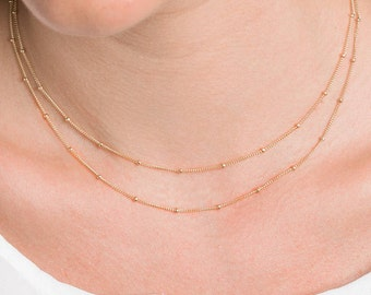Dainty Chain Necklace, Gold, Rose Gold, Silver Layering Necklace, Delicate Necklace, Bridesmaid Gift, Minimal jewelry, Dainty Necklace