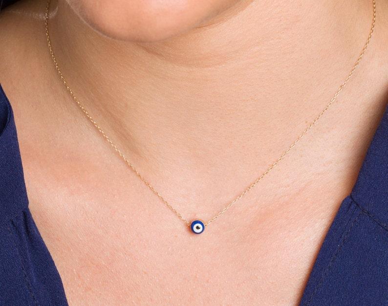 Evil Eye Necklace Kabbalah Necklace Protection Necklace image 0