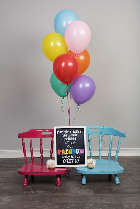 rainbow baby announcement baby after miscarriage chalkboard etsy