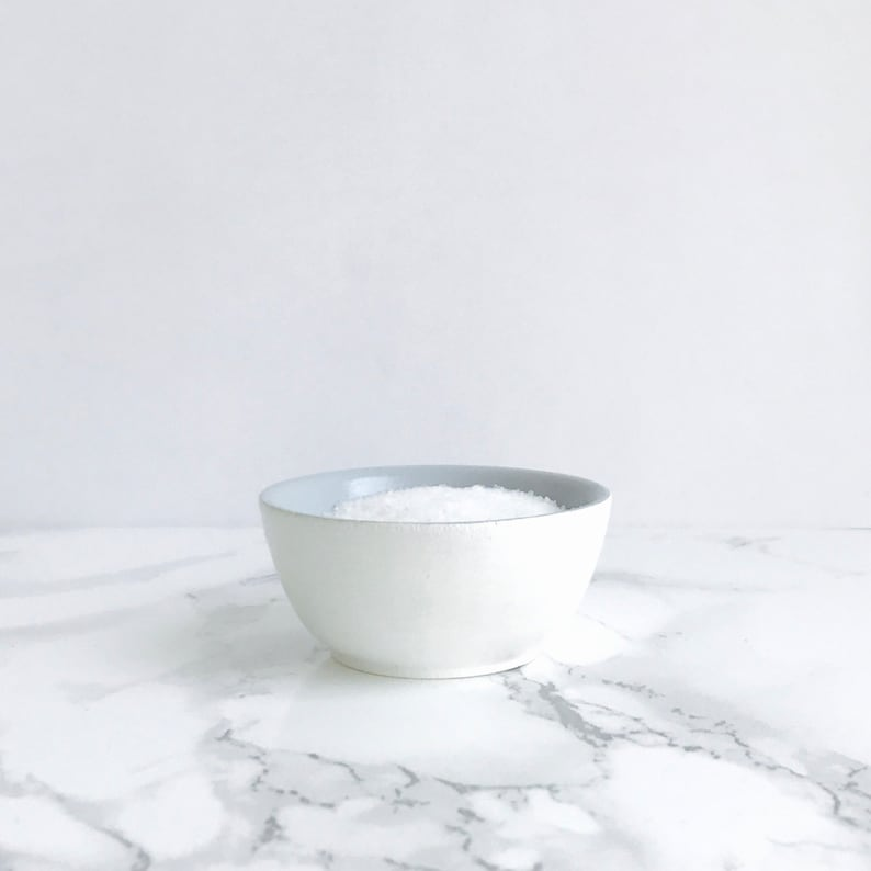 White Small Bowl Spice Bowl Pinch Bowl Spice Containers Salt Cellar Salt and Pepper Dish Salt and Pepper Bowl Grey Salt Bowl