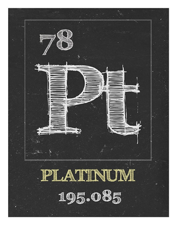 Periodic Table Platinum Poster Art Print Periodic Table Of Elements