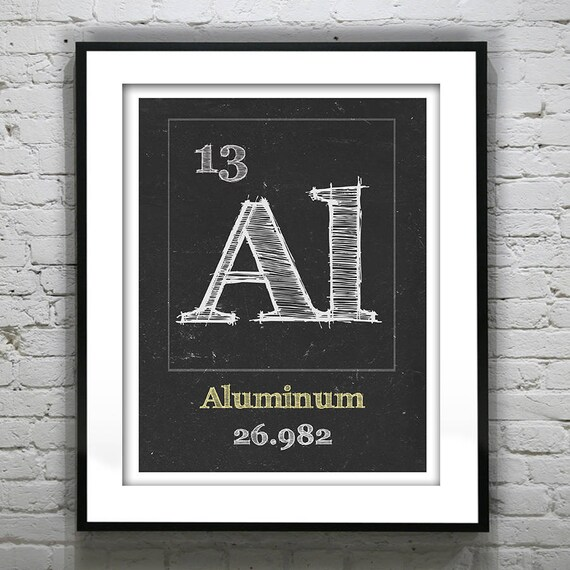 Periodic Table Aluminum Poster Art Print Periodic Table Of Etsy