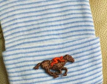 Newborn Hospital Hat. Baby Jockey. Horse Newborn Hospital Hat. Newborn  Beanies. Great Gift. Cute photo Prop. For Every Baby Boy! ca9df59f139
