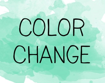 Color change (UPDATED!)