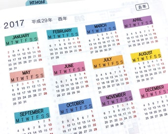 Hobonichi Cousin A5 monthly headers