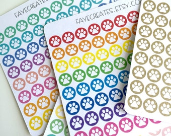 Paw print stickers for Day Designer and other planners