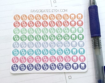 Doctor/dentist icon stickers for Day Designer and other planners