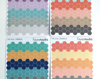 Mini hexagon stickers (2017 inkWELL Press colors)