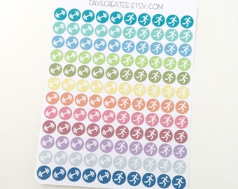 Exercise stickers for Day Designer and other planners