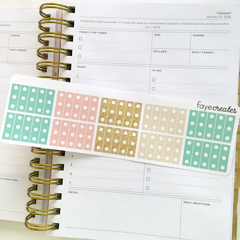 photo regarding Day Designer Planners titled Mini record stickers for Working day Designer and other planners