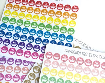 Bath stickers for Day Designer and other planners