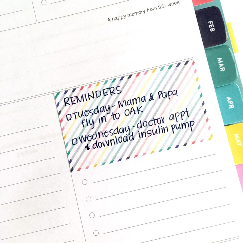 picture relating to Simplified Planner called Weekly/Sunday prep stickers for Day by day Simplified Planner