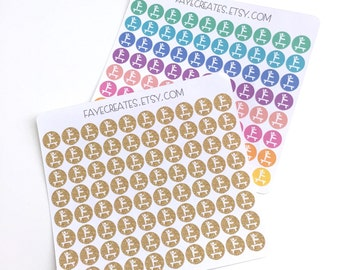 Gymnastics stickers for Day Designer and other planners