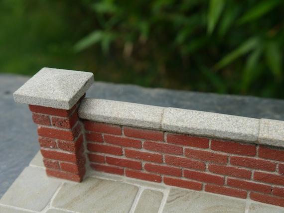 20 22mm Real Piedra Miniatura Piedra Gris Pared copings