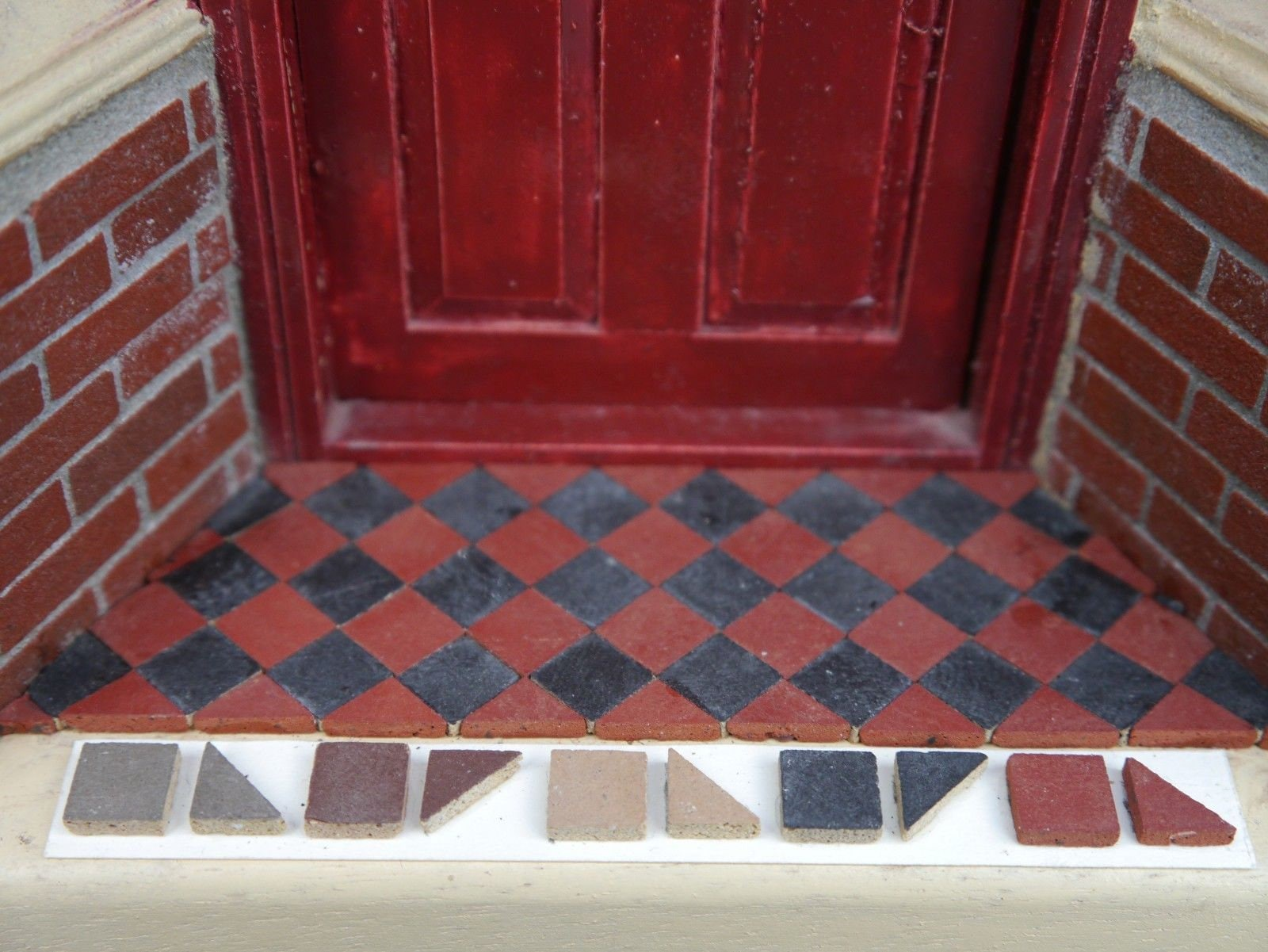 1 12th Scale Real Brick Red 1 3 Victorian Path Porch Etsy