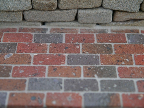NEW YM0181 Dollhouse Red Brick Blend