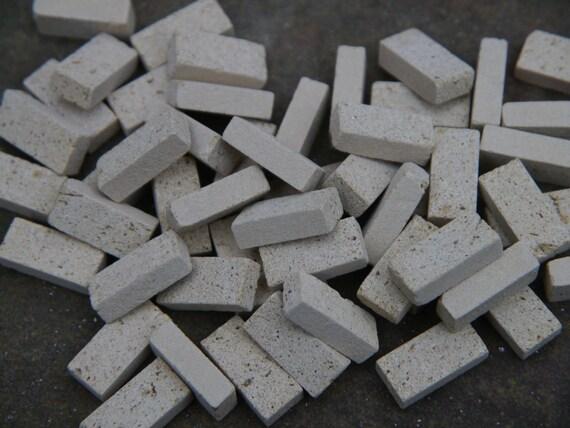 100 1:12th Naturel Brique Géorgien Rouge Véritable briques//brickslips pour maisons de poupées
