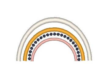 Rainbow Embroidery Design  - boho rainbow embroidery - rainbow embroidery design - Embroidery Design - Machine Embroidery -