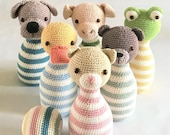 Bowling game PDF crochet pattern