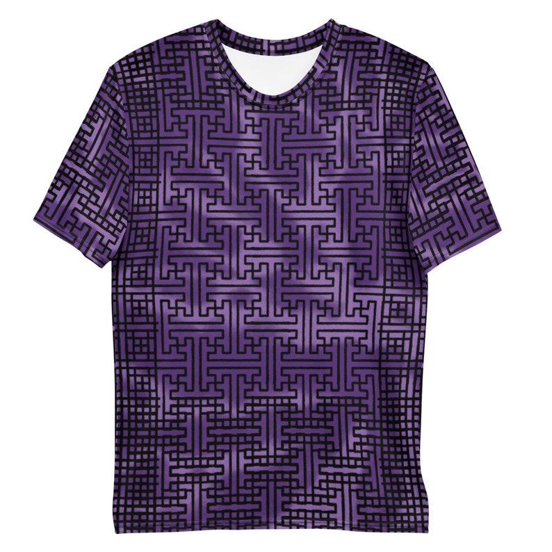 Sayagata 2 Purple Tie-dye  Unisex all over print T-shirt image 1