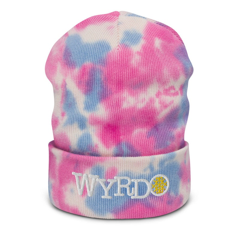Wyrdo  Tie-dye beanie4 color options Cotton Candy
