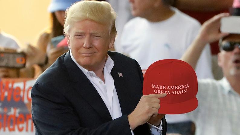 NEW Make America Greta Again  Snapback Wool Hat Updated image 0