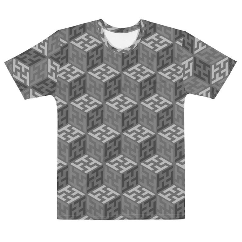 Sayagata 4  Grayscales Unisex AOP T-shirt image 0