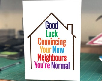 Congratulations on your new home greetings card! Funny humour