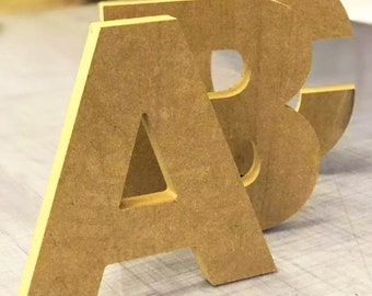 Large mdf letters & numbers 10cm to 60cm 18mm thick. CNC cut