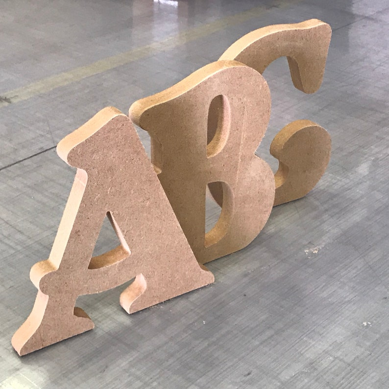 Large Mdf Letters Numbers 10cm To 60cm 18mm Thick Cnc Cut Belshaw Font