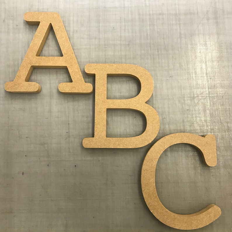 Large Mdf Letters Numbers 10cm To 60cm 18mm Thick Cnc Cut Courier Font
