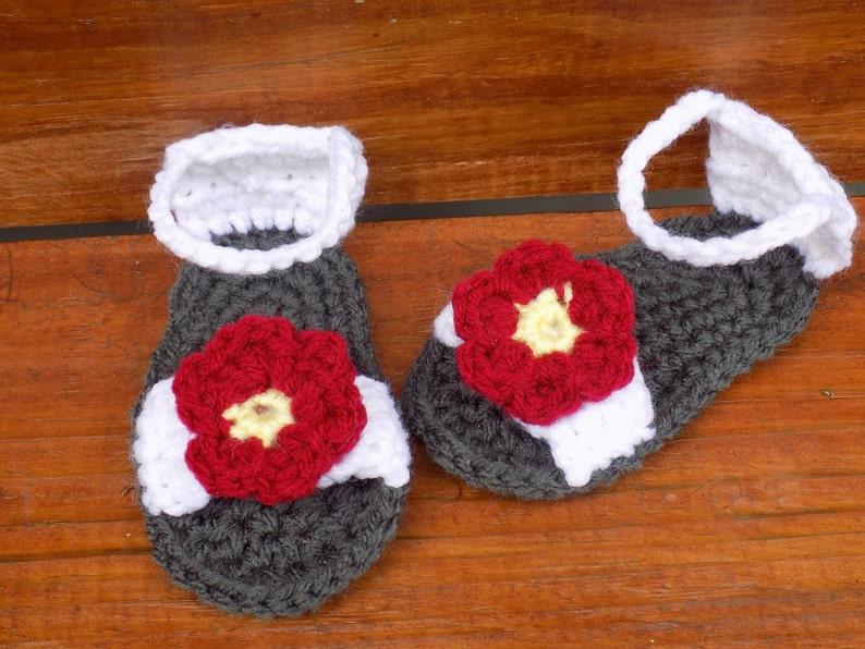 Crocheted Sandal Pattern Etsy