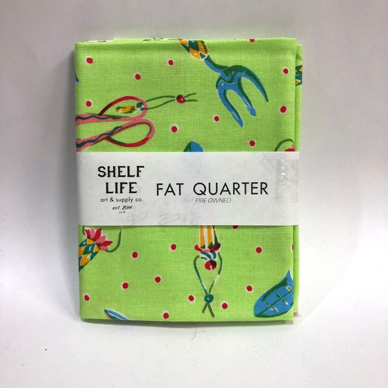 Quilting Fabric FAT QUARTER Garden Tools FM18 Felicity Miller Westminster  Fibers