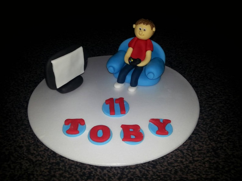 Edible Xbox Ps3 Ps4 Birthday Cake Topper Decoration