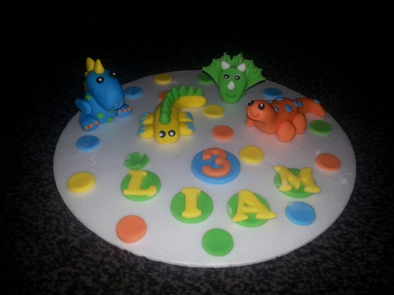 Edible Dinosaur Birthday Celebration Cake Topper 4
