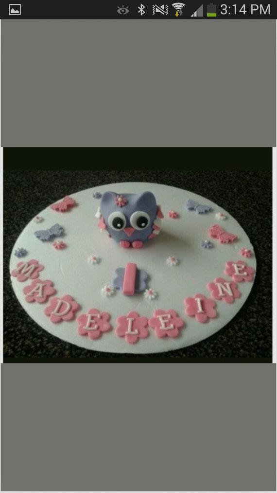 Strange Edible Owl Birthday Cake Topper Etsy Personalised Birthday Cards Akebfashionlily Jamesorg