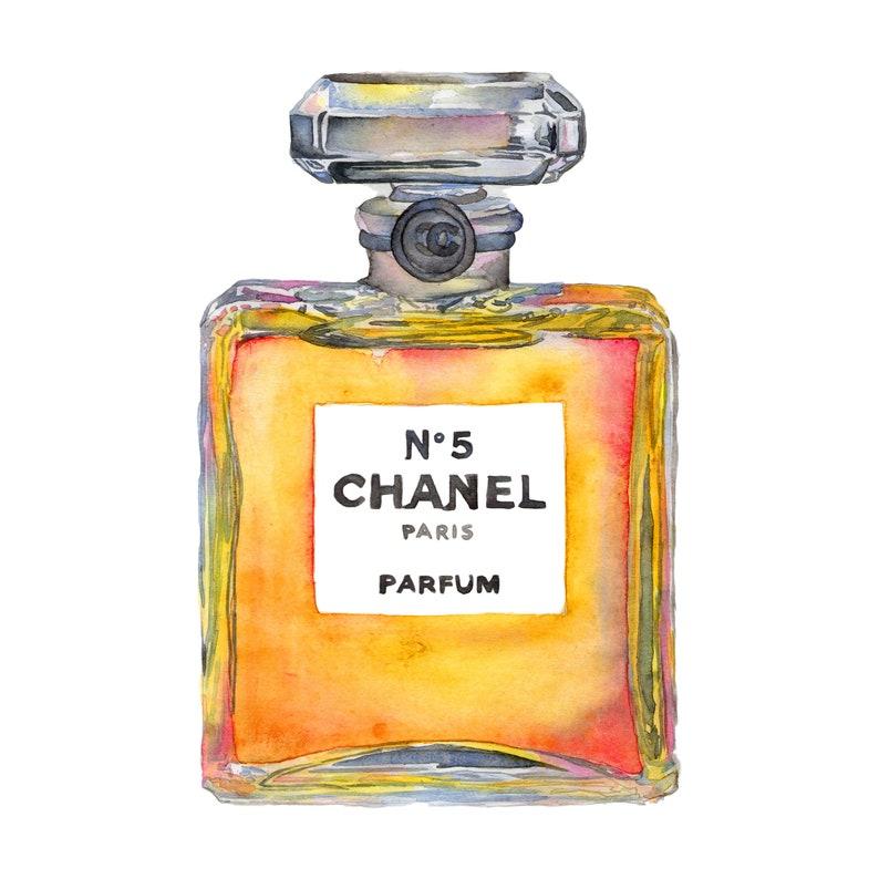 Aquarelle Dimpression Parfum Chanel N 5 Parfum 8 X 8 Etsy
