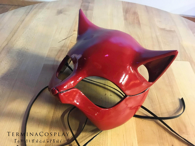 ann takamaki panther cosplay katzenmaske aus persona 5 etsy. Black Bedroom Furniture Sets. Home Design Ideas