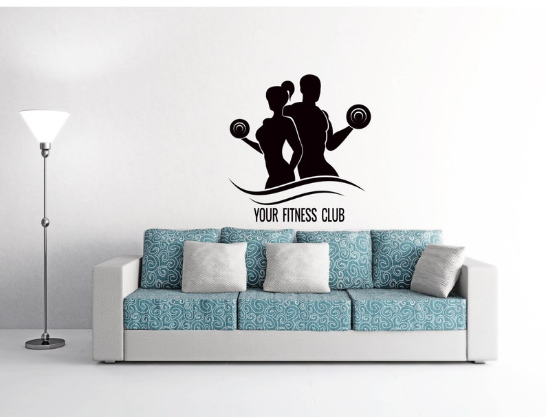 Fitness Wall Decal Sport People I Don/'t Need Easy I Just Need Possible Gym Decor Home Vinyl Sticker Interior Design