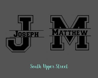 Split Letter Decal | Yeti Cup Decal | Vinyl Decal | Monogram Decal | Tumbler Decal | Initial Decal