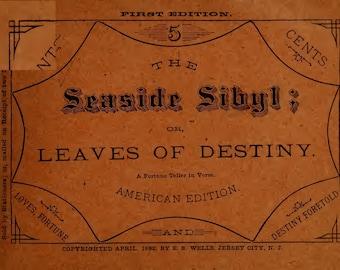 "1882 Vintage ""The Seaside Sybil"" Fortune Teller Book"