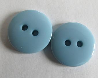 Button * turquoise plain round