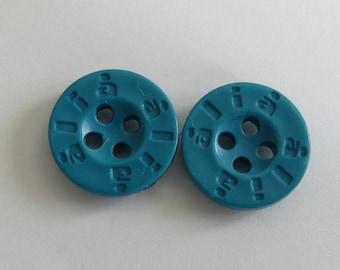 Button * turquoise circle with inscription ALIA