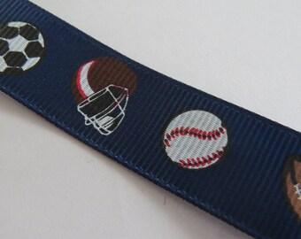 Pretty Blue Ribbon dark sports pattern