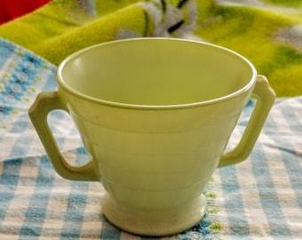 Vintage Hazel Atlas Moderntone Platonite Mint Green Sugar Bowl-Vintage Hazel Atlas 1940's Moderntone Platonite Kitchen Items
